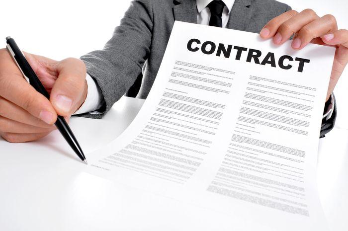 подписать договор
