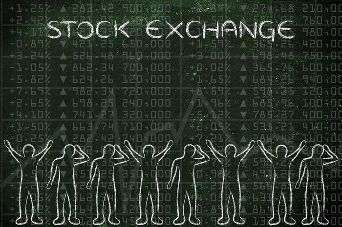 люди и акции на рынке