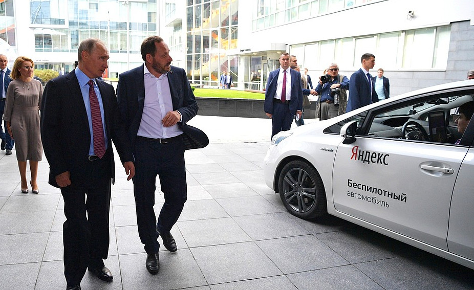 Владимир Путин посетил офиса ИТ-компании «Яндекс»