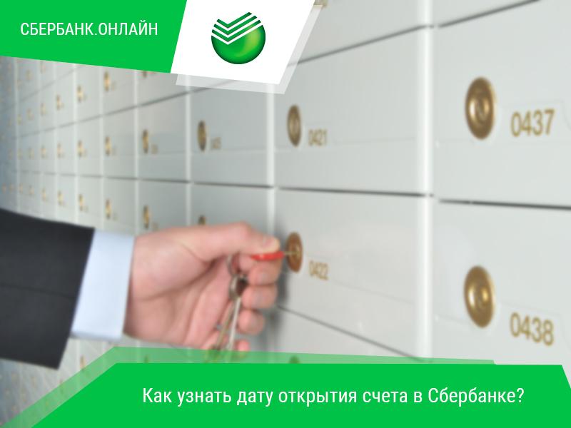 Способы узнать дату открытия карточного счета Сбербанка