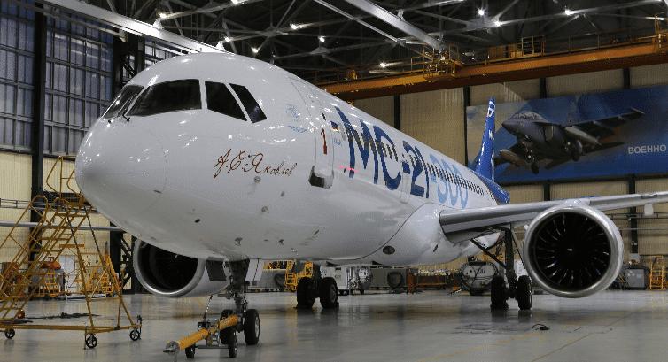 Из-за санкций США производство российского самолета МС-21 может задержаться на годы